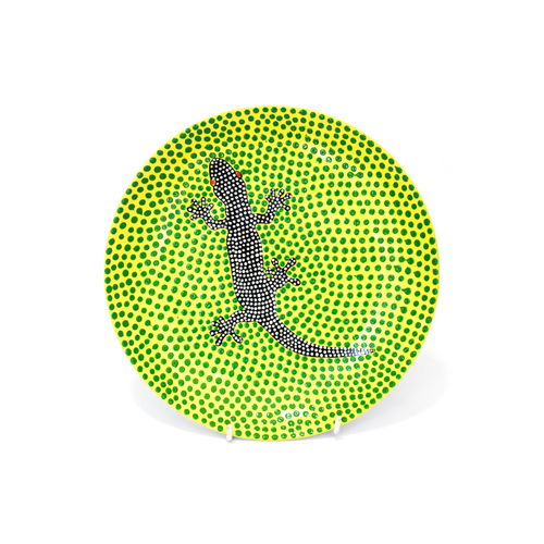 Hand Painted Side Plate - Lizard