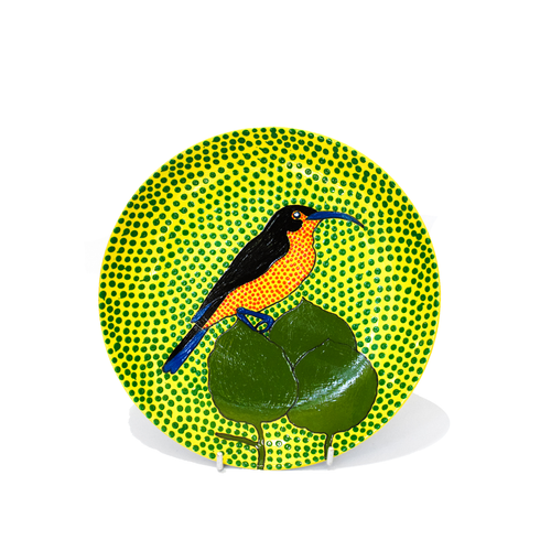 Hand Painted Side Plate - Bird