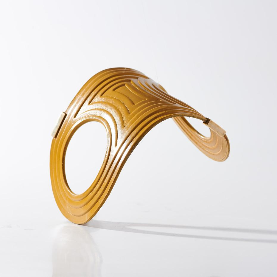 Bangle - Linear - Yellow - Lrg