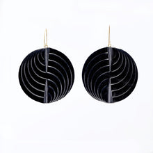 Load image into Gallery viewer, Earrings - Circle - Black