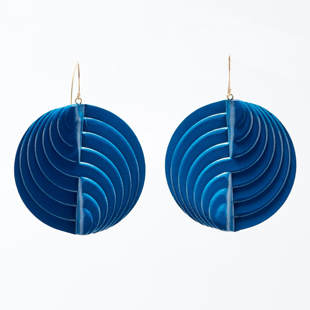 Earrings - Circle - Teal