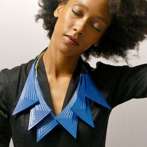 Collar - Linear - Triple - Teal