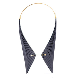 Collar with pin - Linear - Black