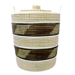 Grass Laundry Basket with lid - Large