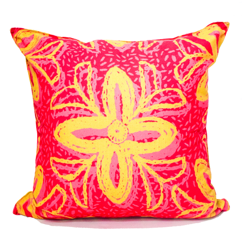 Cushion Cover - Pink Flower Large