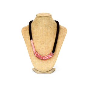 Necklace - Brown Pink rope small