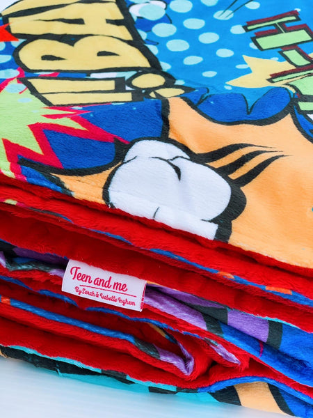 The Comic Art Cuddle Up Blanket