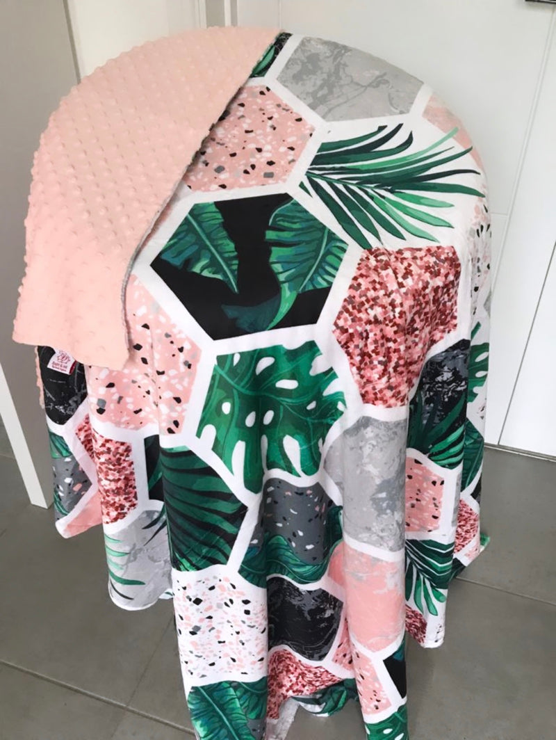 The Botanical Garden Minky Dot Cuddle Up Blanket