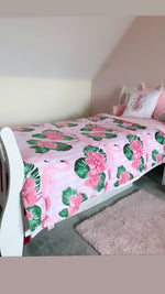 Flamingo Dreams - Large Cuddle Up Minky Dot Blanket