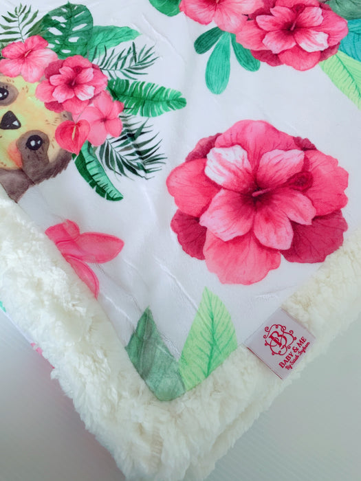 The Isla Sloth Cuddle Up Blanket