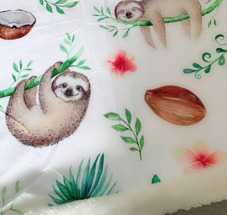 The Izzy Sloth Cuddle Up Blanket
