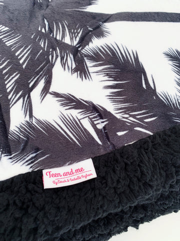 The Monochrome Palm Cuddle Up Blanket