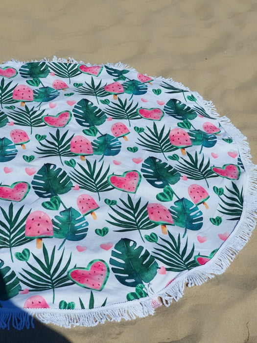 Watermelon Extra Large Circular Towel