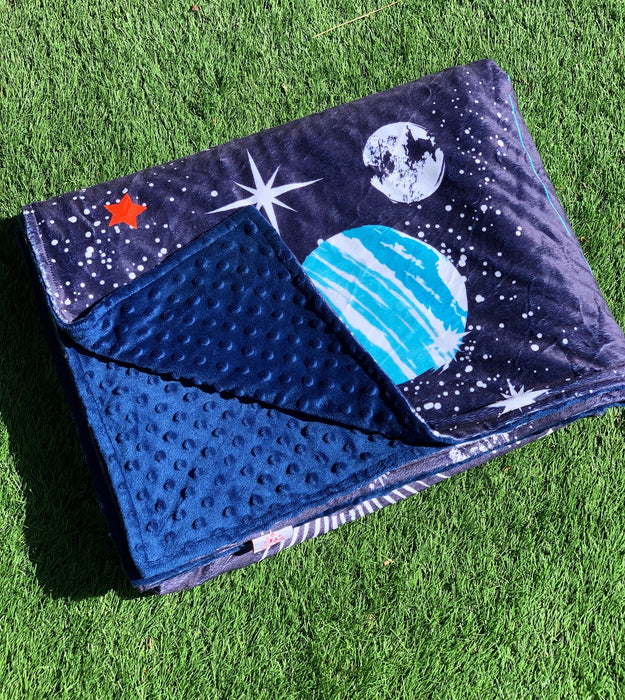 Into Space Minky Dot Teen & Me Cuddle Up Blanket