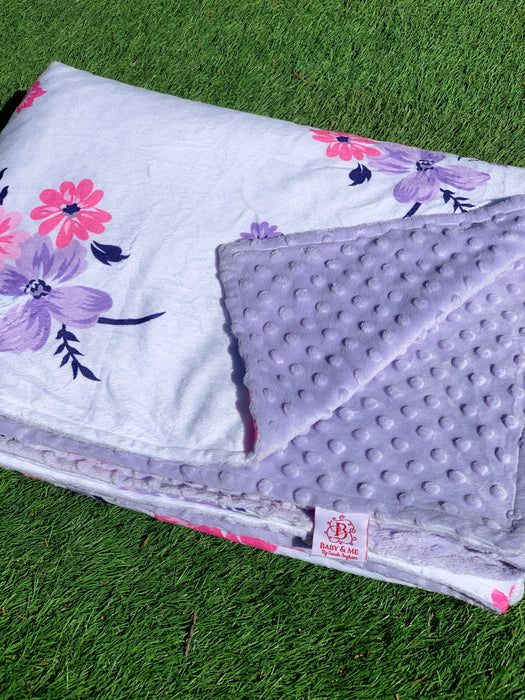 Lilac Dreams Minky Dot Cuddle Up Blanket