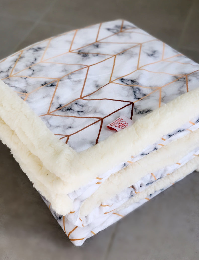 Modern Marble Cuddle Up Blanket
