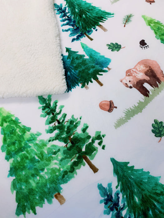 The Enchanted Bear Sherpa Back Cuddle Up Blanket