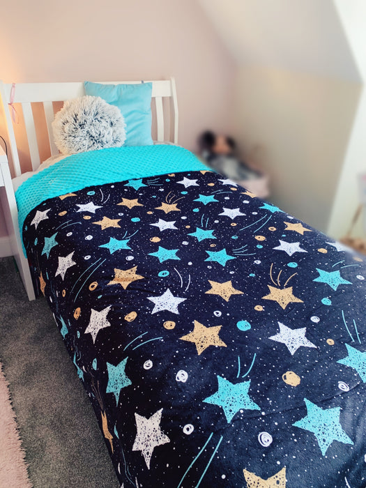 Cosmic Dreams - Large Cuddle Up Dinky Dot Blanket