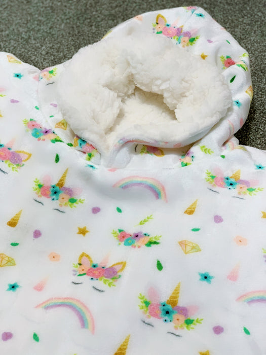 Enchanted Unicorn Snuggle Hood Wearable Blanket (Kids Size Only)