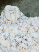 Modern Marble Snuggle Hood Wearable Blanket (Kids, Free Size Adult, Plus Size)