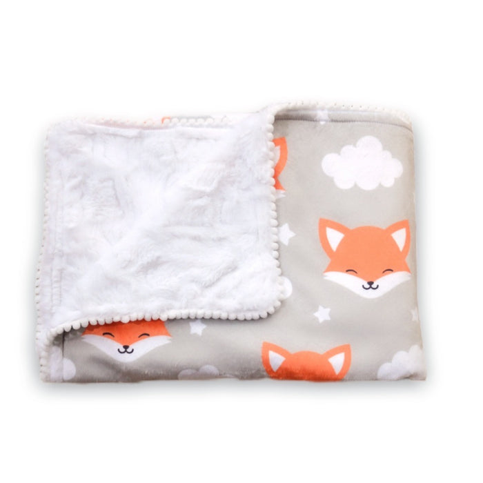 Forest Fox - Fluffy Back Baby Blanket
