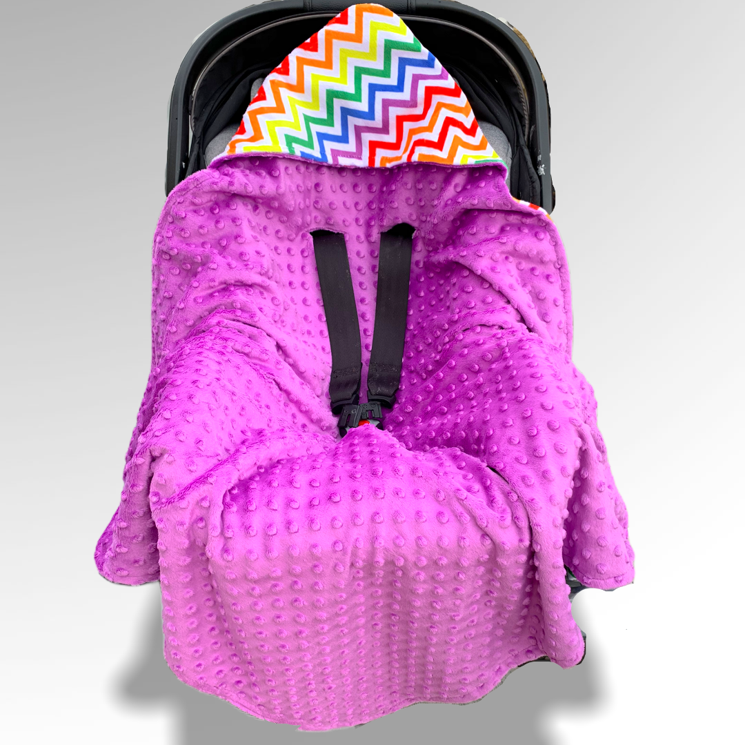 Purple Rainbow Car Seat Wrap