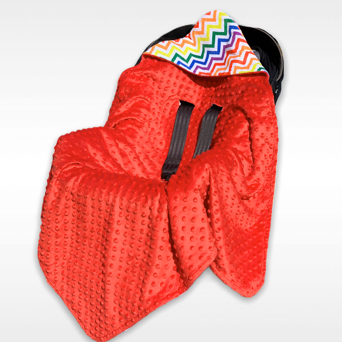 Red Rainbow Car Seat Wrap