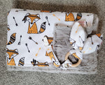 The Warrior Fox Fluffy Back Baby Blanket & Bundle
