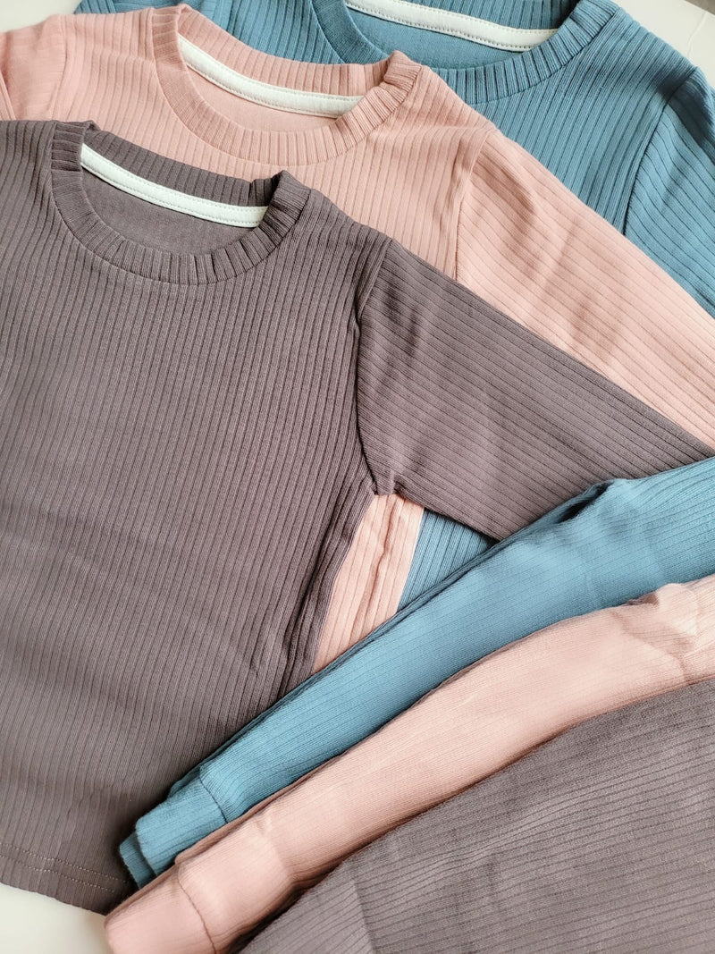 Personalised Ribbed Lounge Wear Sets **PLEASE READ INSTRUCTIONS**