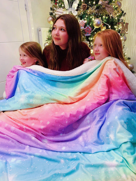 Rainbow Galaxy Teen & Me Cuddle Up Blanket