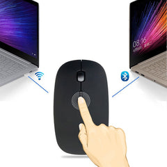 Bluetooth 3.0 + 2.4Ghz Wireless Dual Mode 2 In 1 Cordless Mouse