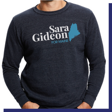Load image into Gallery viewer, Sara Gideon Navy Crewneck Sweatshirt