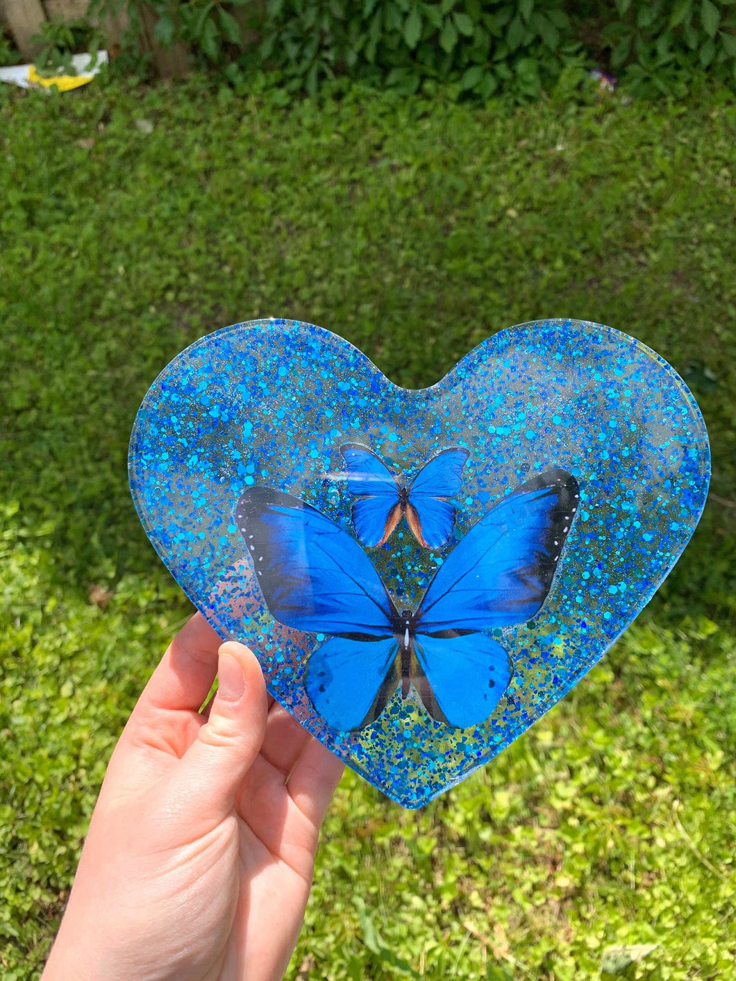 Blue Butterfly rolling tray