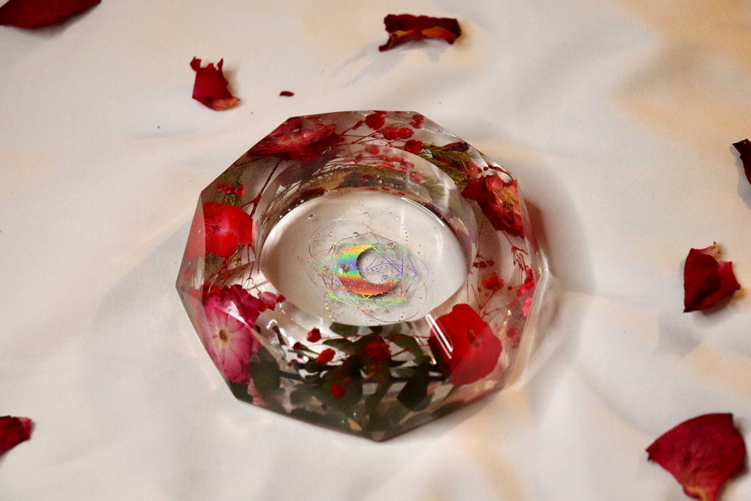 Red Botanical Ashtray