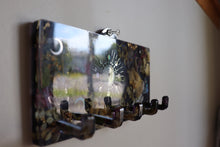 Load image into Gallery viewer, Black Botanical Wall Key Hanger