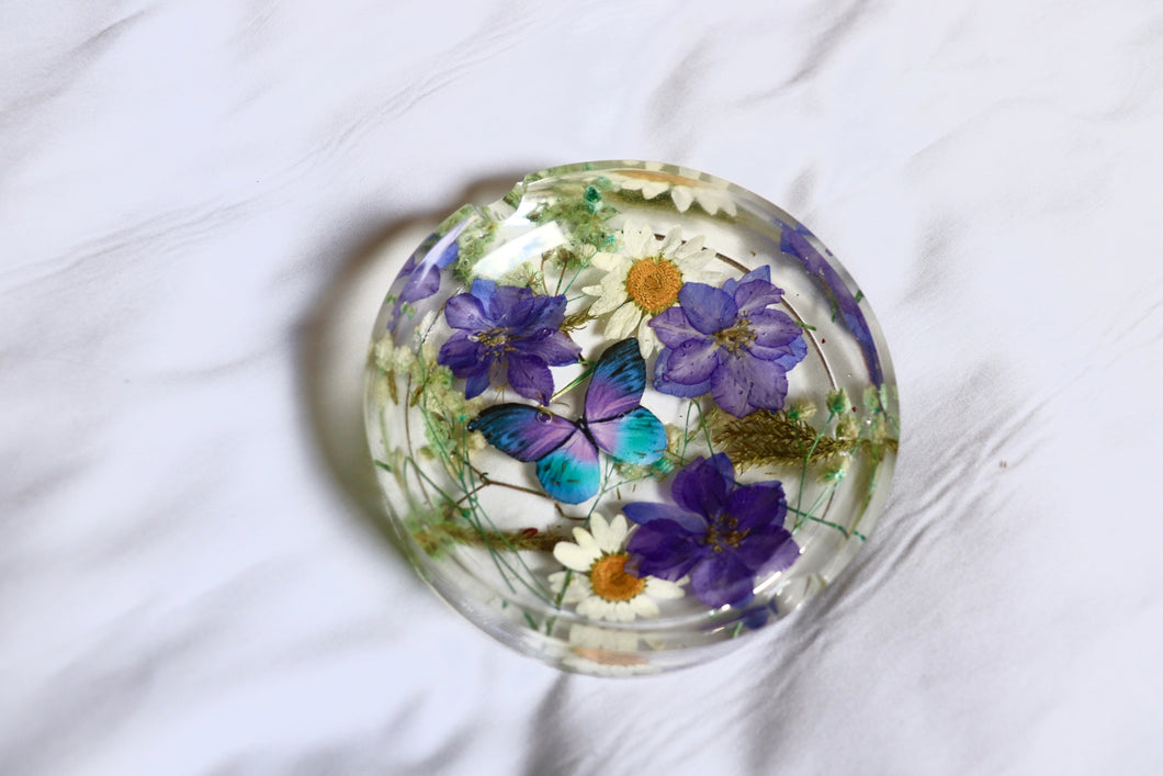 Blue & Purple Botanical Ashtray