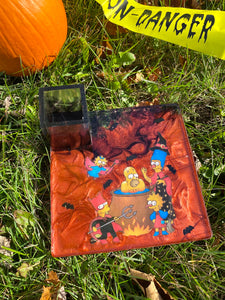 Spooky Simpsons Square Tray