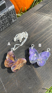 Butterfly Pendant Necklaces (A&B)