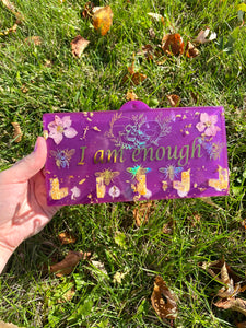 I Am Enough Wall Key Hanger