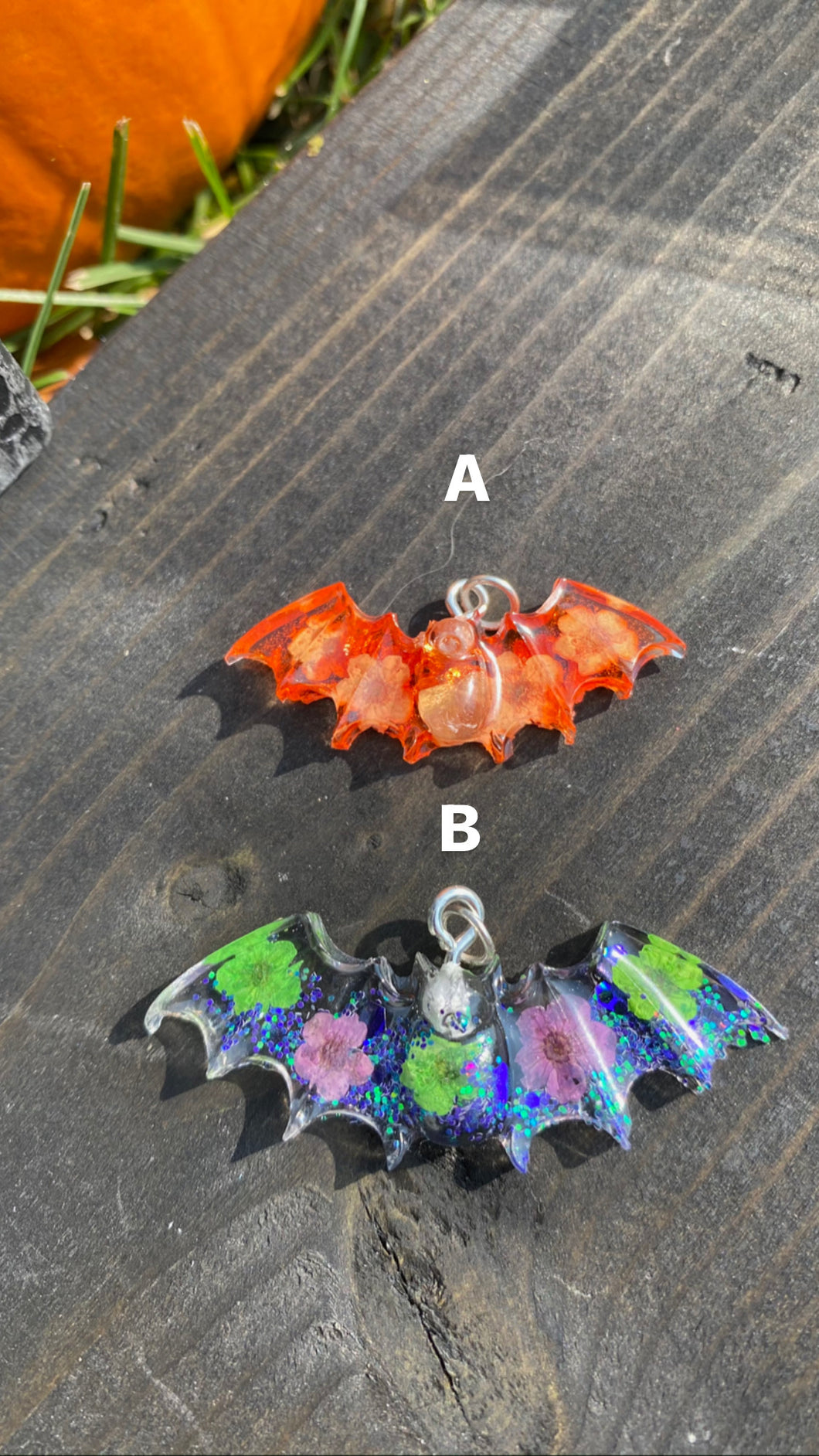 Mini Bat Pendant Necklaces (A&B)