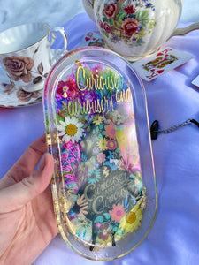 Curiouser & Curiouser Floral Medium Rolling Tray
