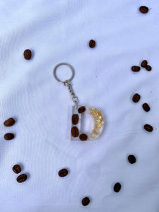 LIMITED EDITION Coffee Bean Letter Keychain (A-J)