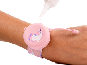 PULSERA DISPENSADORA DE GEL DESINFECTANTE ROSA