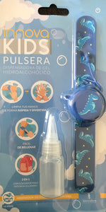 PULSERA DISPENSADORA DE GEL DESINFECTANTE AZUL
