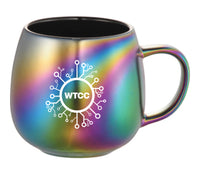 Wyoming Technology Coronavirus Coalition Iridescent Ceramic Mug (15oz)