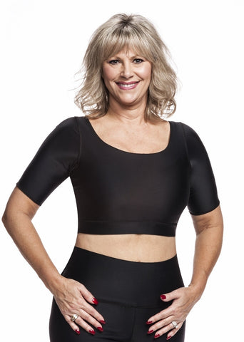 Compression Crop Top - Compression for Underarm, Upper Chest, and Back