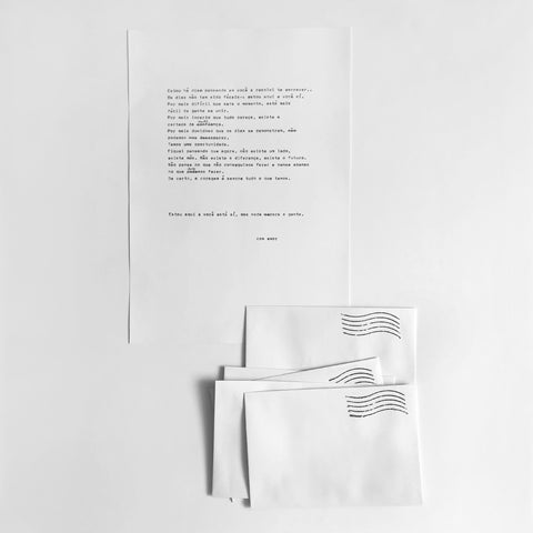 kit cartas + envelope