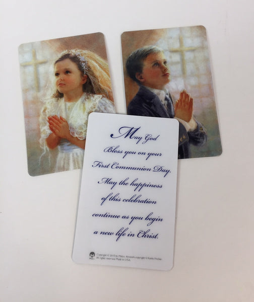 First Communion Prayer Card