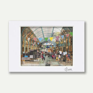 Apple Market, Covent Garden A3 Mounted - Tom Butler Artist