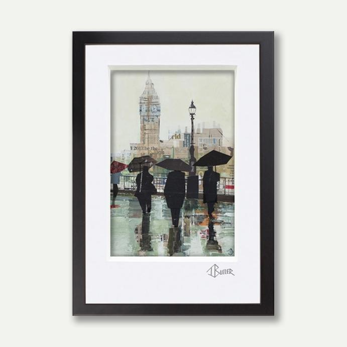 Southbank Reflections, A3 Framed - Tom Butler Artist